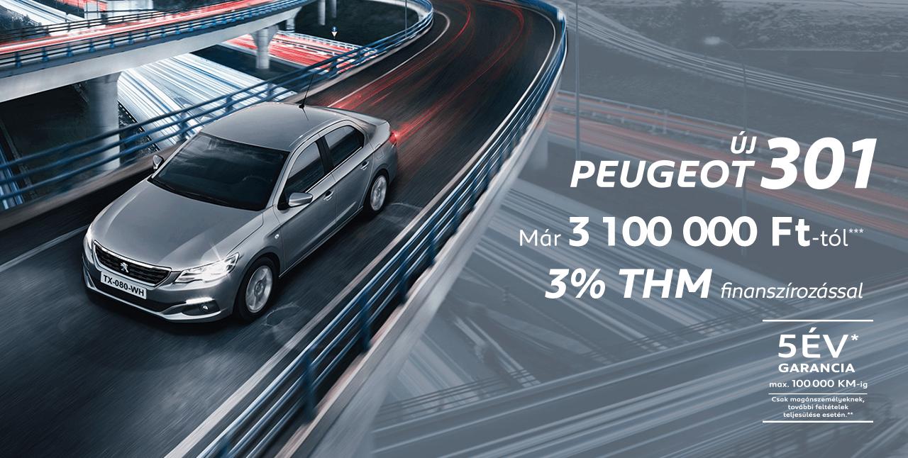 Peugeot 301: 3% THM finanszírozással