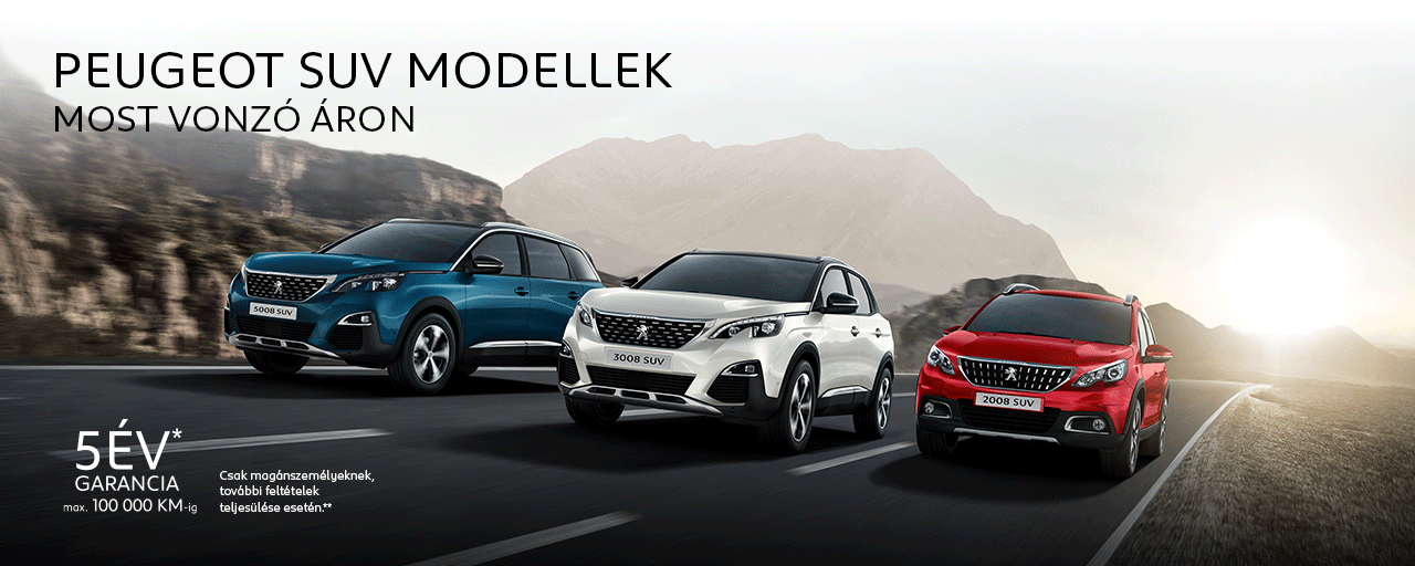 Új Peugeot SUV-modellek akciósan