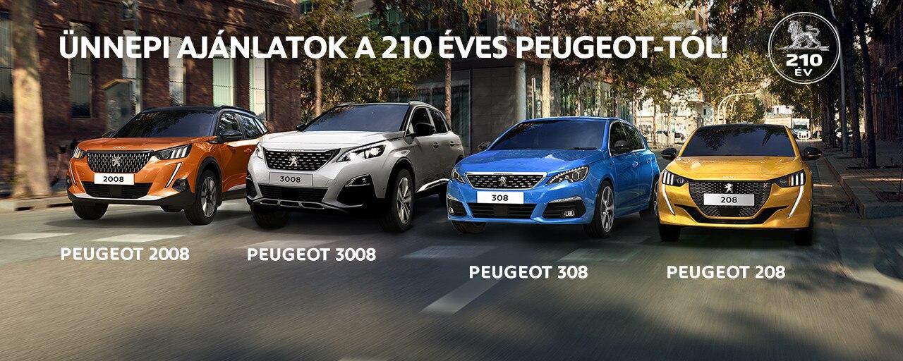 Ünnepi ajánlatok a 210 éves Peugeot-tól!