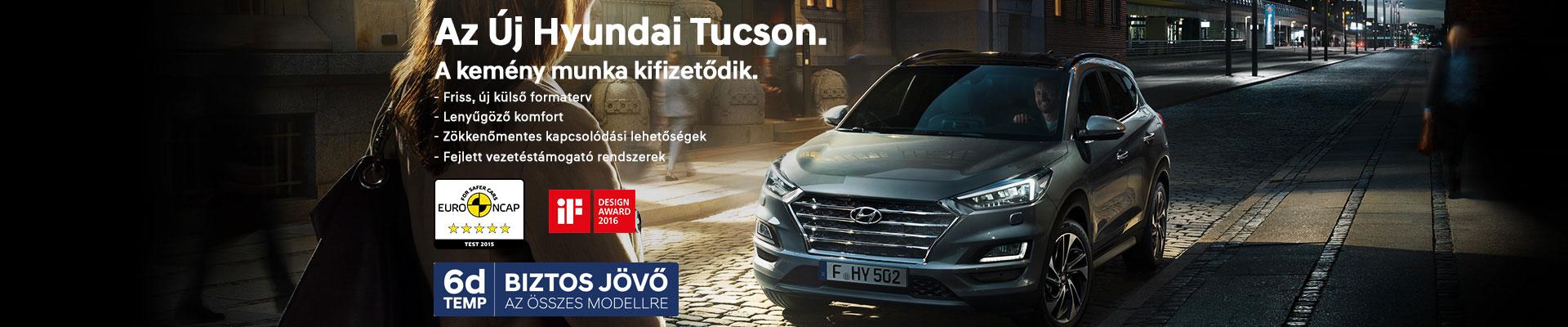 Az új Hyundai Tucson. A kemény munka kifizetődik.