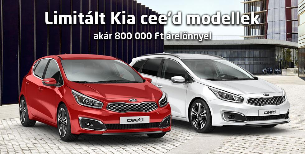 Limitált Kia cee'd modellek - akár 800 000 Ft árelőnnyel