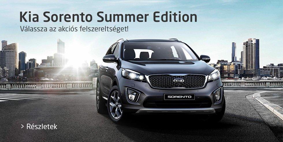 Kia Sorento Summer Edition - Válassza az akciós felszereltséget!