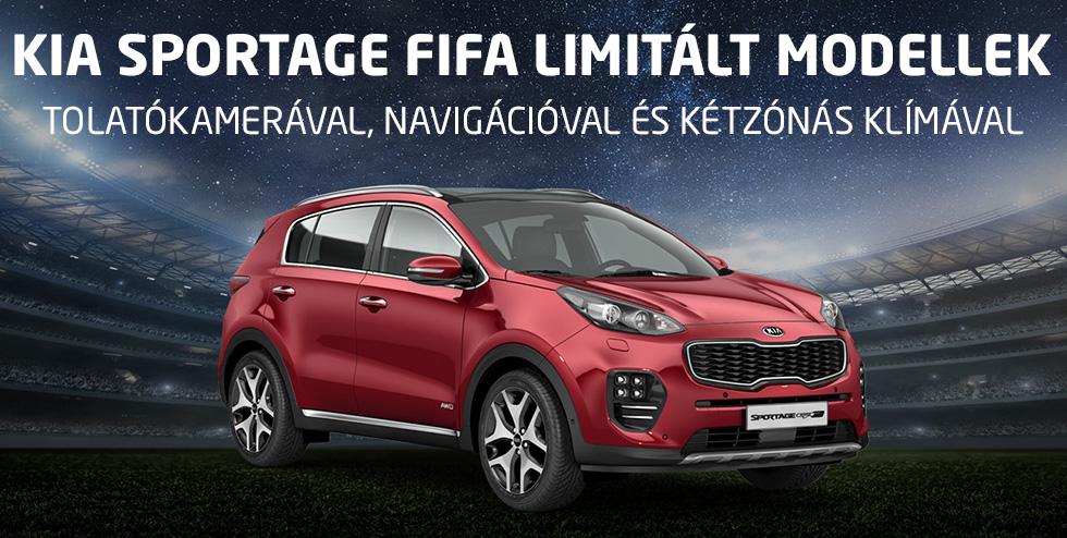 Kia Sportage FIFA limitált modellek