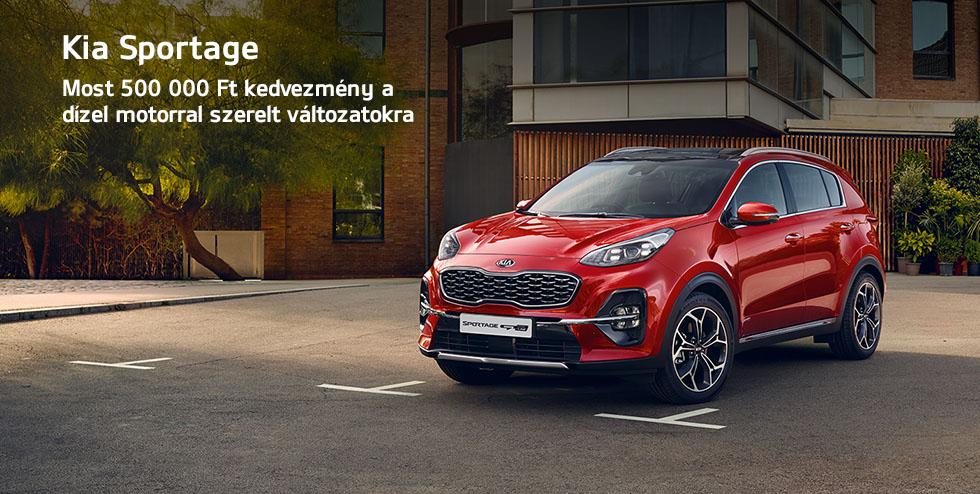 Kia Sportage - Most 500 000 Ft kedvezmény a dízel motorral szerelt változatokra