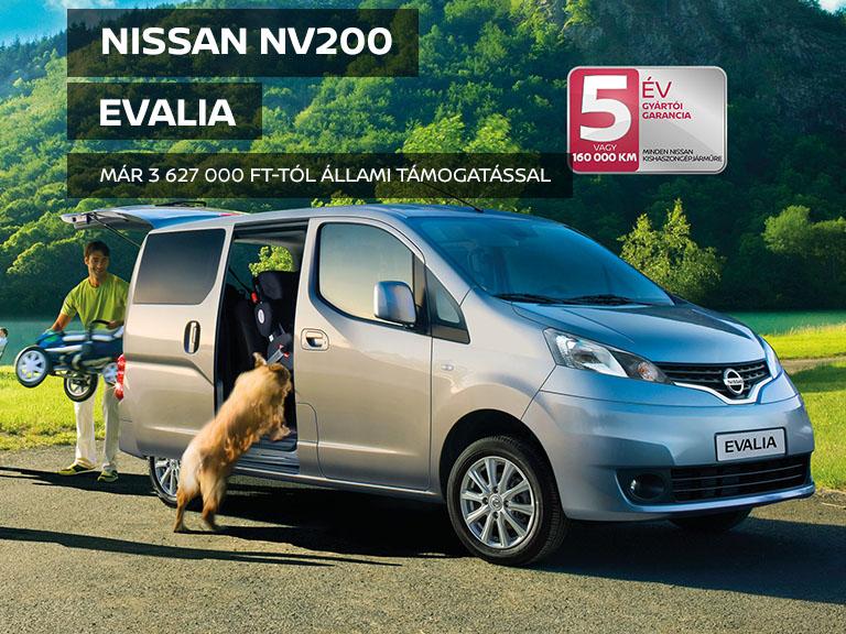 NV200 Evalia állami támogatással