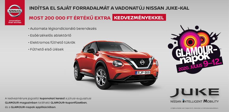 Glamour napok - Nissan Juke 200 000 Ft kedvezménnyel