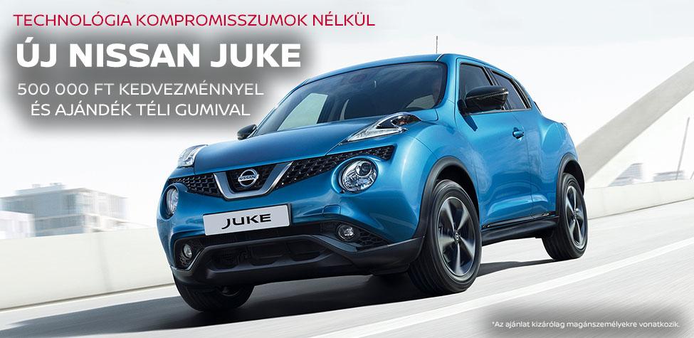 Nissan Juke 500 000 Ft kedvezménnyel