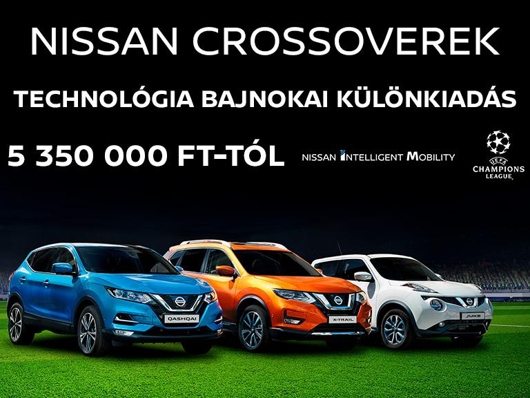 Nissan Crossoverek Technológia bajnokai különkiadás