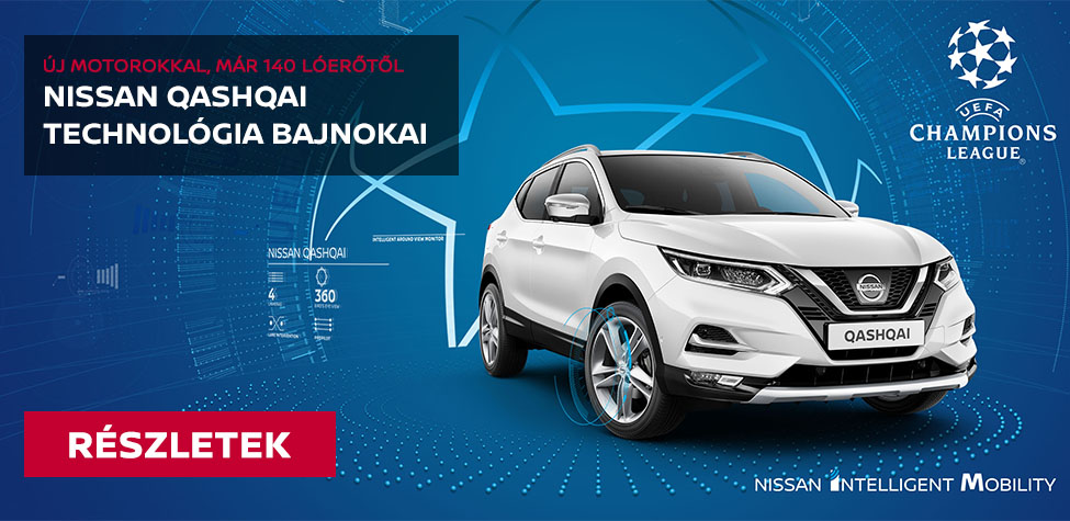 Nissan Qashqai Technológia bajnokai különkiadás
