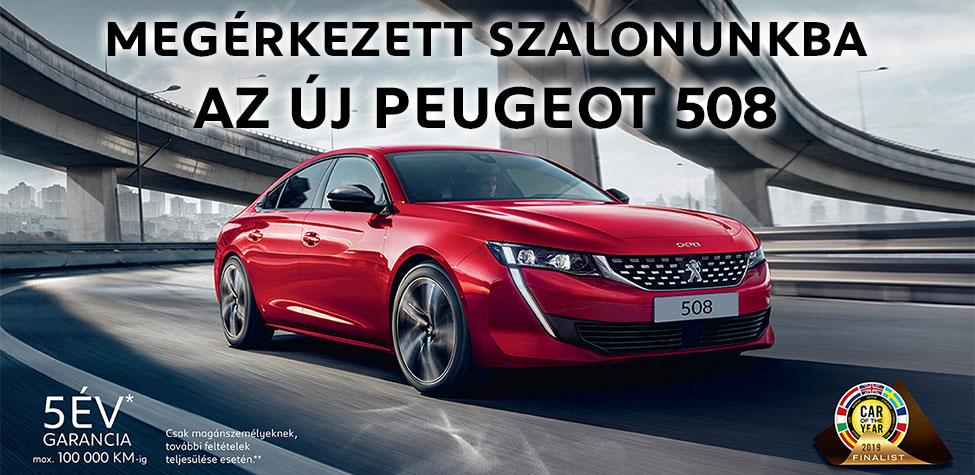 Megérkezett szalonunkba az új Peugeot 508