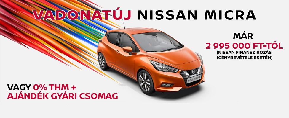 Vadonatúj Nissan Micra