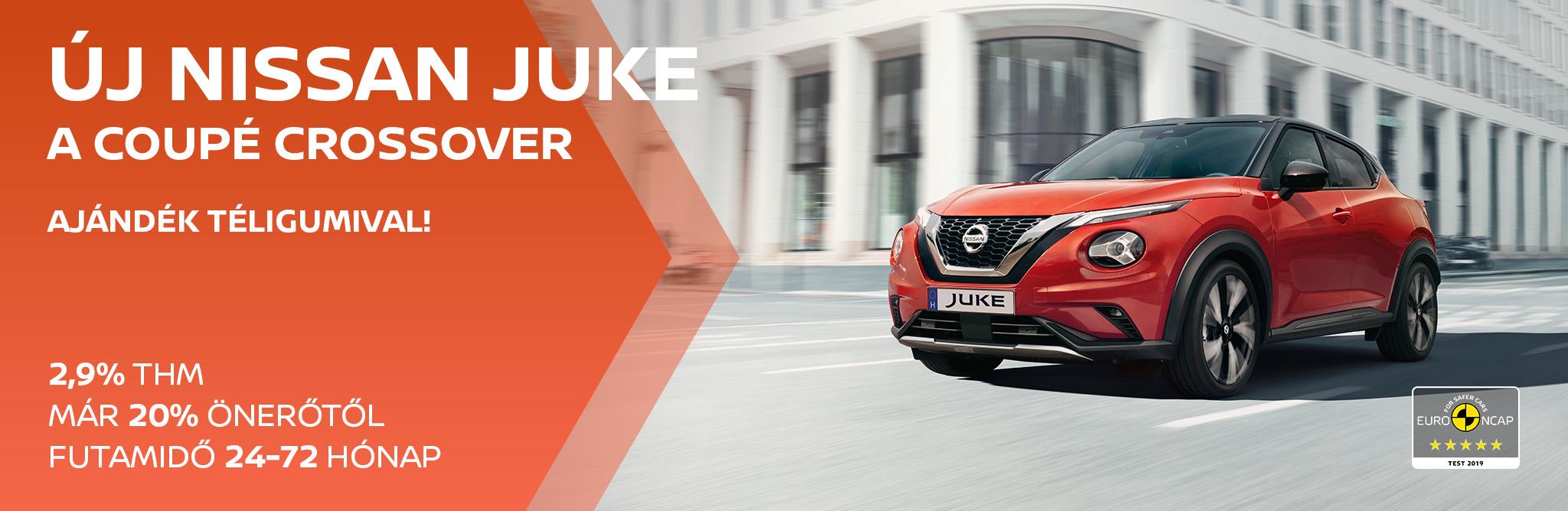 Új Nissan Juke 2,9% THM