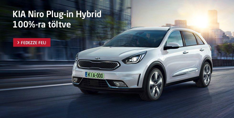 Kia Niro Plug-In Hybrid - 100%-ra töltve