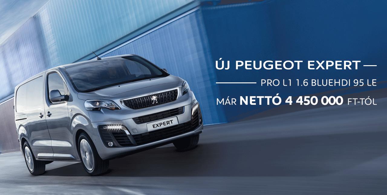 Új Peugeot Expert: már nettó 4 450 000 Ft-tól