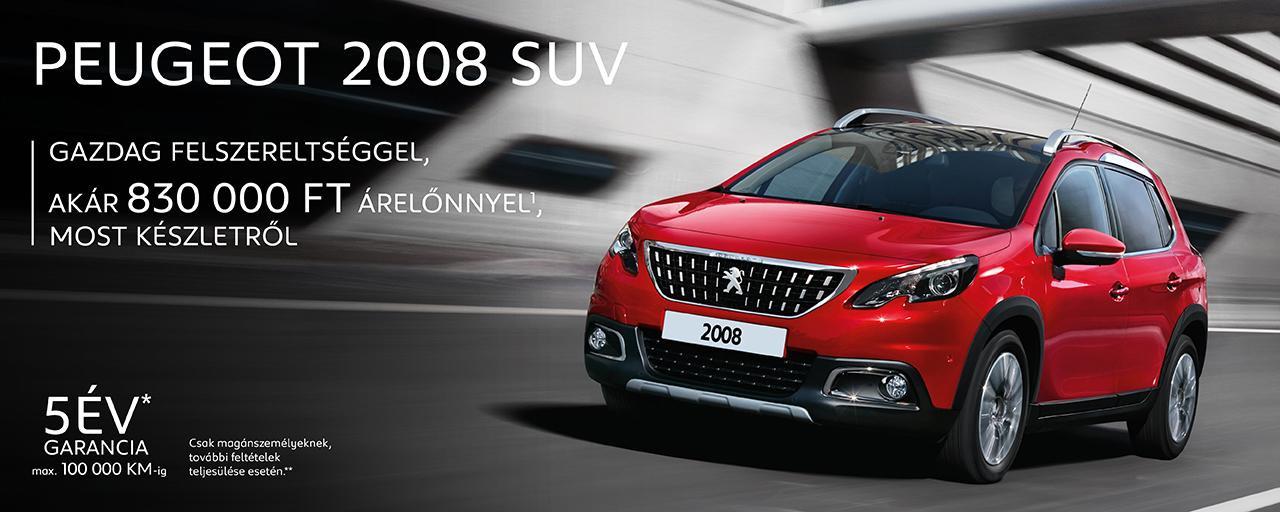 Peugeot 2008 SUV gazdag felszereltséggel