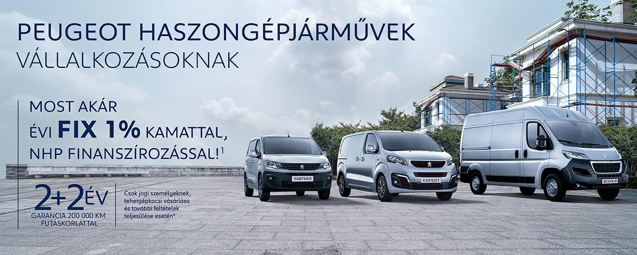 Peugeot haszongépjárművek készletről