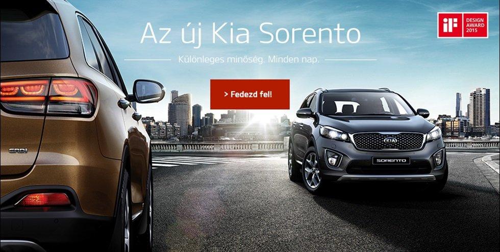 Az új Kia Sorento - Különleges minőség, minden nap.