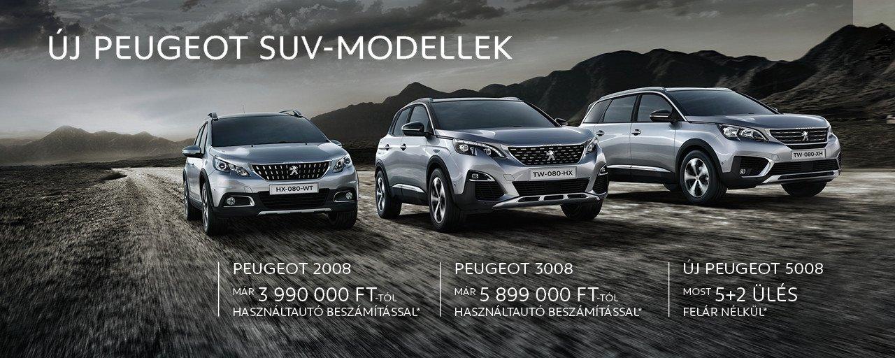 Új Peugeot SUV akció