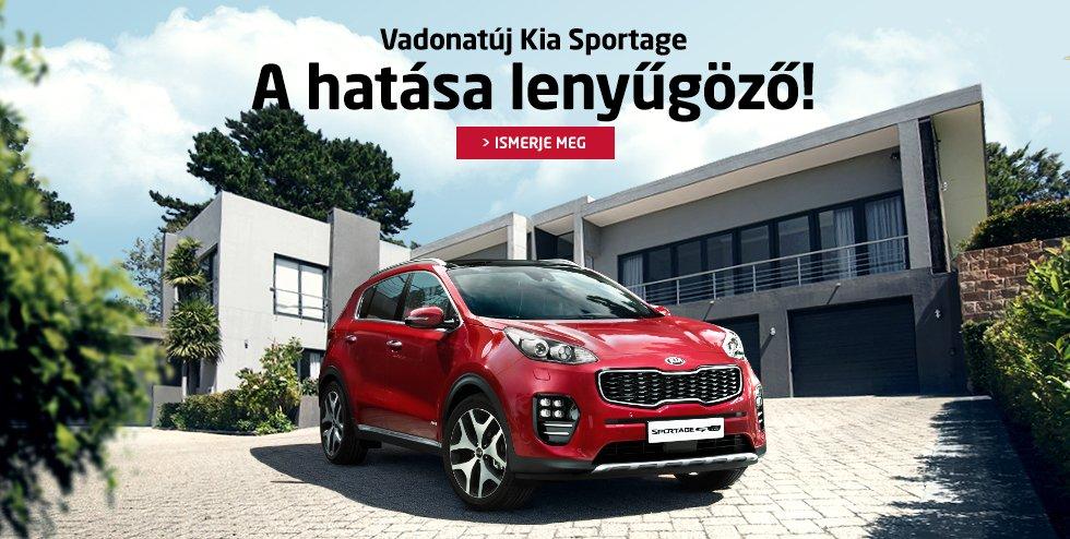 Vadonatúj Kia Sportage - A hatása lenyűgöző!