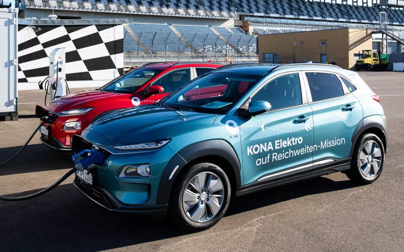 Több mint 1000 kilométert ment egy töltéssel a Hyundai Kona Electric