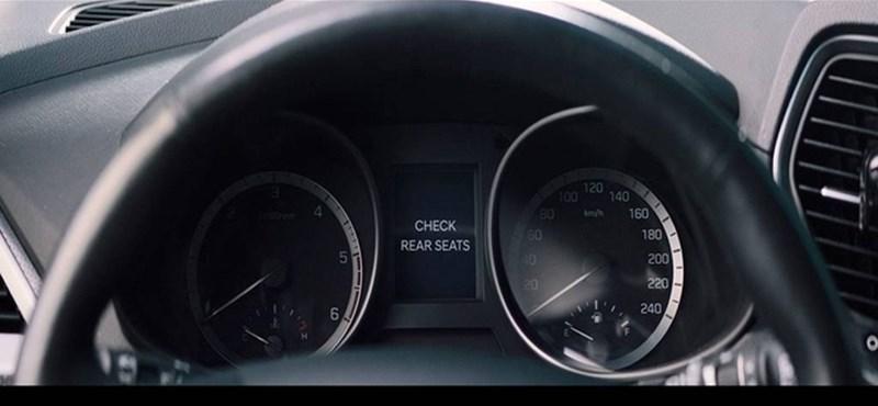 Még a mobilon is jelez a Hyundai, ha a kocsiban maradt a gyerek