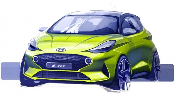 A Hyundai Motor bemutatta az új i10 első grafikáját